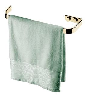 Porta Toalha Toalheiro Rosto Mãos 22cm Dourado Ouro 2304dd