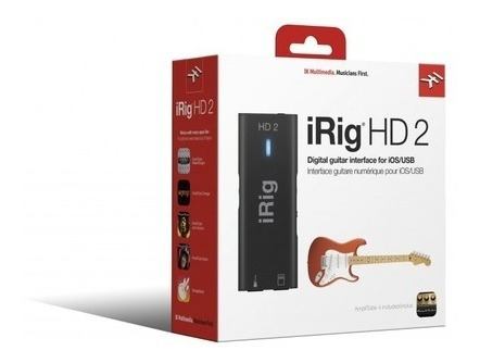Interface Guitarra Ik Multimedia Irig Hd 2 Audio Digital