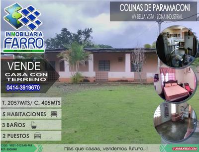 Venta De Casa Con Terreno En Av Bella Vista Ve01-0120ab-mr