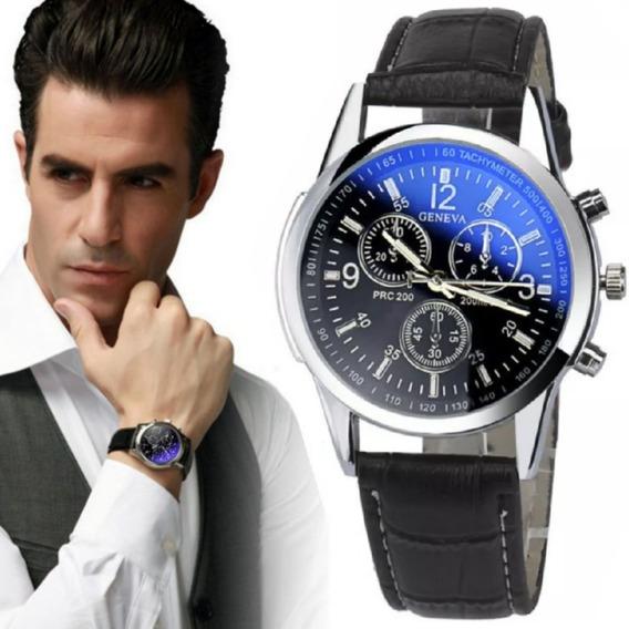 5x Relógios Masculino Pulseira Couro Social Atacado Revenda