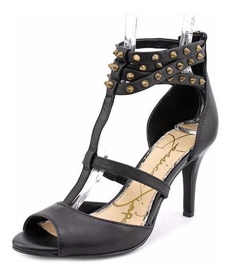 Jessica Simpson Zapatillas Color Negro Con Herraje De Picos
