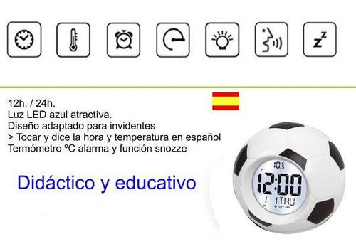 Reloj Balón Despertador Voz Digital, Habla Dice Hora Y Fecha