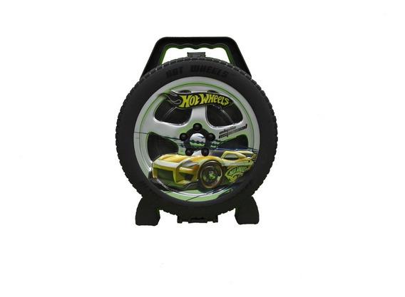 Maleta Roda Radical Hot Wheels Para 36 Carrinhos Fun 69237
