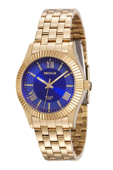 Relógio Feminino Seculus 25540lpsvda1 Original Dourado