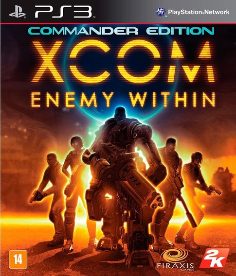 Jogo Xcom Enemy Within Commander Ed Playstation 3 Ps3 Mídia Física