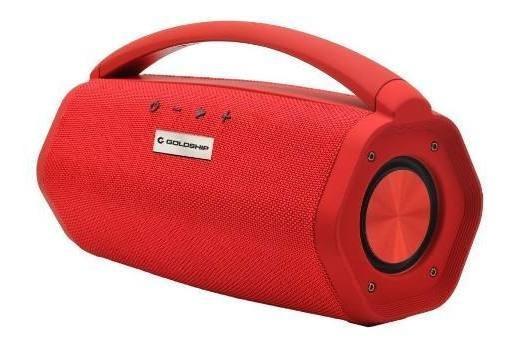 Caixa De Som Aqua Boom Speaker Ipx7 Goldship Vermelha