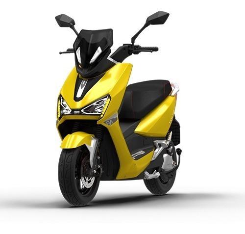 Imagem 1 de 8 de Scooter Moto Elétrica Voltz Ev1 Amarela - Uma Bateria