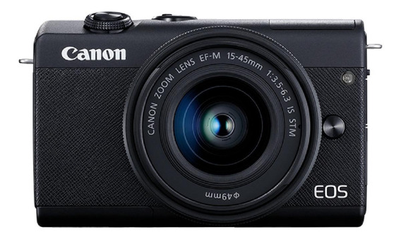 Canon EOS M200 15-45mm IS STM Kit mirrorless cor preto