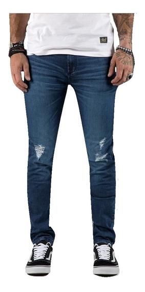 Pantalon Jean Vulk Freedom Blue Elastizado Hombre Vulk