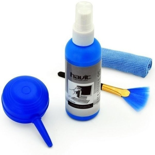 Imagen 1 de 2 de Kit Limpieza Pantalla Havit Brocha Spray Paño Pc Laptop