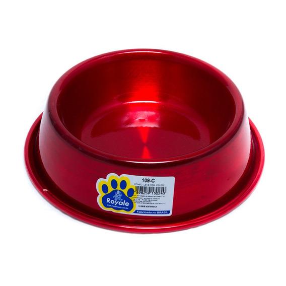 Comedouro 109-c Leve Royale Cães Color Tamanho P Alumínio