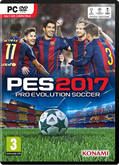 Pes 2017 (pc) Dublado Em Português Original Midia Digital