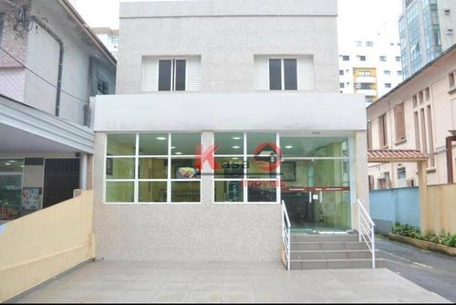 Hotel Com 18 Dormitórios, 300 M² - Venda Por R$ 6.000.000,00 Ou Aluguel Por R$ 25.000,00/mês - Pompéia - Santos/sp - Ho0001