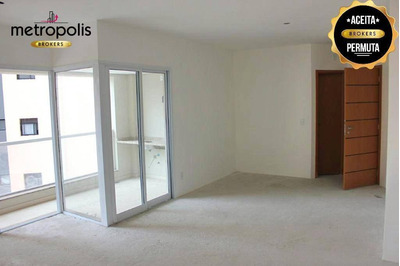 Apartamento Com 3 Dormitórios À Venda, 119 M² Por R$ 740.000 - Santa Paula - São Caetano Do Sul/sp - Ap0707