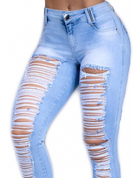 Calça Pit Bull Pit Bull Jeans Rasgada Original Ref 29636