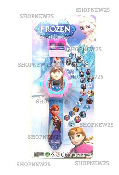 Relógio Infantil Feminina Digital Projetor De Imagens Frozen