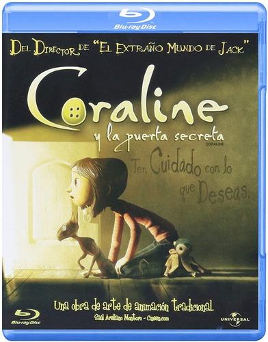 Imagen 1 de 3 de Coraline Y La Puerta Secreta | Blu Ray Película Nuevo