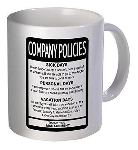 Políticas De La Empresa Empleado Jefe 11 Onzas Taza De Café