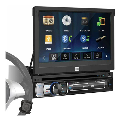 Estereo Retractil Pantalla 1 Din In Dash Dual Dvd Bluetooth