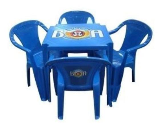 Conjunto De Mesa Plástica, Mesa E 4 Cadeiras