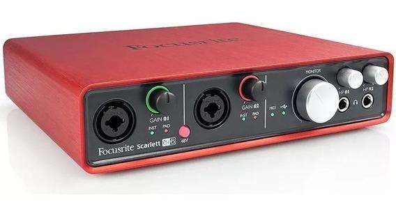 Interface De Audio Usb Focusrite Scarlett 6i6 Profissional