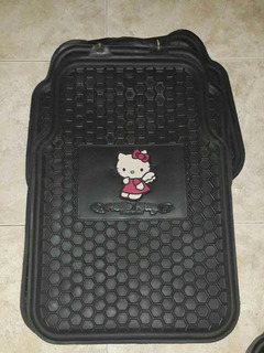 Alfombras Para Carro Hello Kitty Goma 5 Piezas