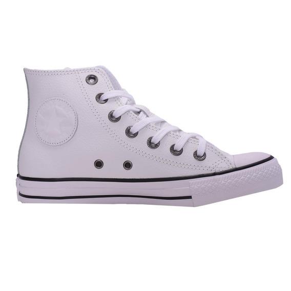 Zapatillas Converse Chuck Taylor Hi Cuero Blanca 18 Cuotas