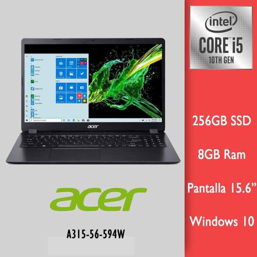 Imagen 1 de 3 de Acer Aspire 3 I5-1035g1 1.0ghz 256gb Ssd 8gb 15.6 Fhd Win10