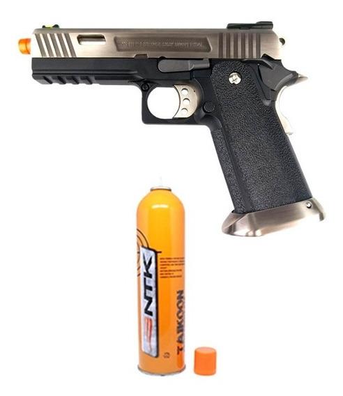 Pistola Airsoft Gbb 1911 Hi-capa Full Metal 6mm We + Taikoon