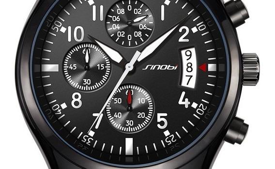 Relógio Sinobe Pulseira De Aço Original