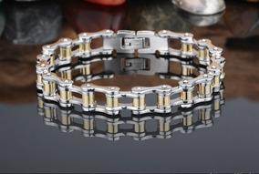 Pulseira Masculina Bracelete Corrente Em Aço 316l