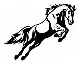 Adesivo Cavalo Saltando Hipismo Carro