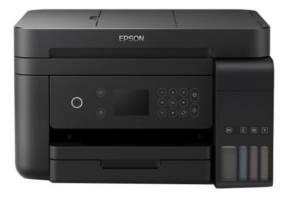 Impressora a cor multifuncional Epson EcoTank L6171 com wifi 110V/220V preta