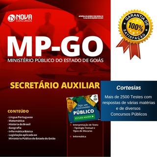 Apostila Mp Go Secretário Auxiliar Ministério Público Goiás