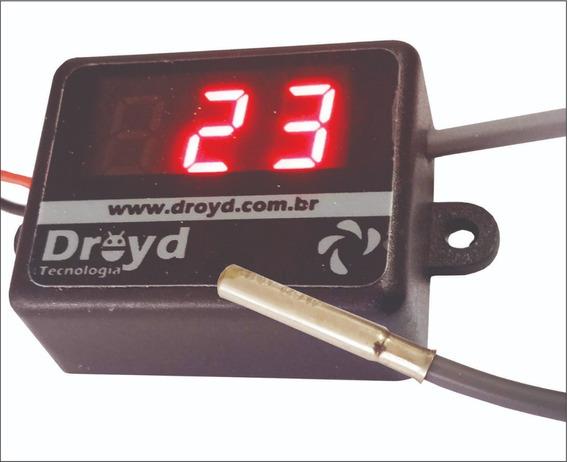 Termômetro Automotivo 12v 0 A 120 Graus Cabo Silicone
