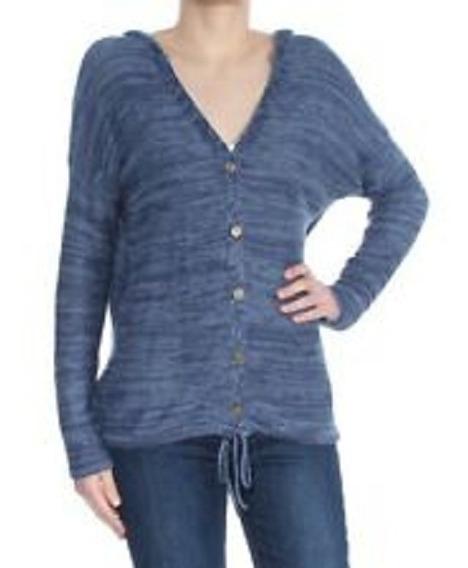 Sweater Saquito Cardigan Buso Con Capucha Dama Importado