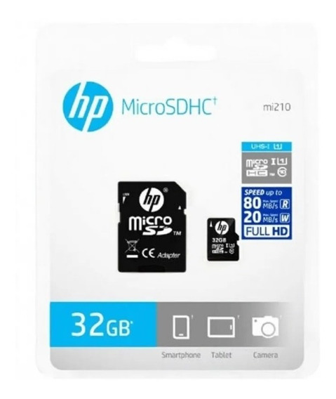 Cartao De Memoria Micro Sd 32gb C10 U1 Hp Original