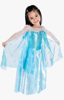 Fantasia Infantil M Princesa Do Gelo Gliter1451 Brink Model