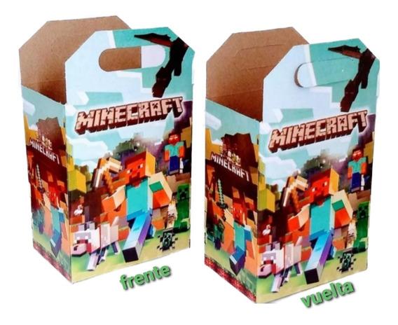 Mincraft 30 Cajas Dulceras Artículos De Fiesta