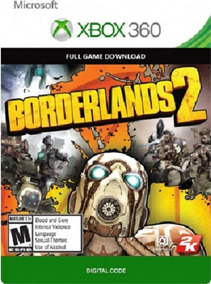 Borderlands 2 Xbox 360 / Xbox One Codigo 25 Digitos Original