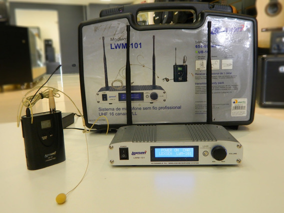 Microfone Sem Fio Hed Set Lexsen Lwm 101 Uhf - Usado Oferta