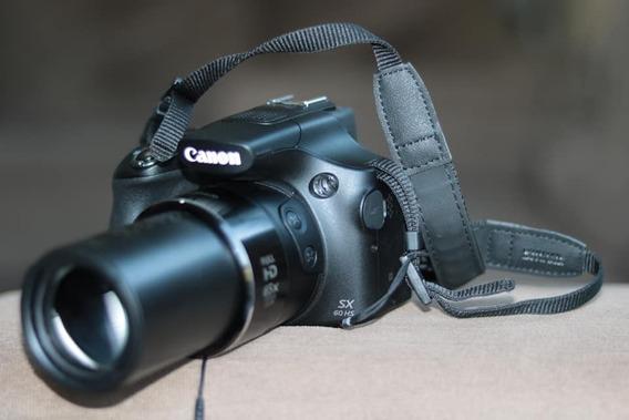 Câmera Canon Powershot Sx60(65x De Zoom)+bolsa+bater.+carr.