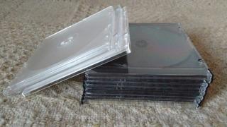 Lote 11 Cajas Cd/dvd Slim Usadas En Buen Estado - Rosario