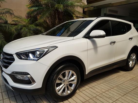Hyundai Santa Fe 2017 Full Piel 3 Filas Garantía De Fábrica
