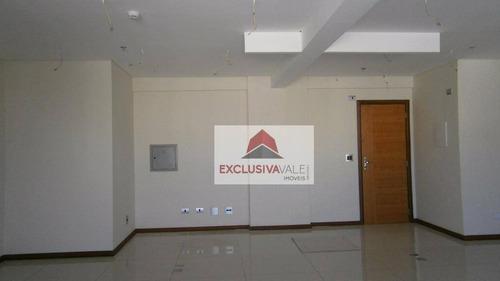 Sala Comercial De 58,24m², 2 Banheiros E 1 Vaga No Jardim Aquarius, São José Dos Campos. - Sa0191