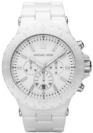 Relógio Michael Kors Mk8177 Dylan Orig Chron Anal Ceramic