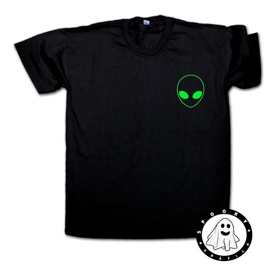 Remera Alien Face Varios Colores Unisex Ufo Tumblr