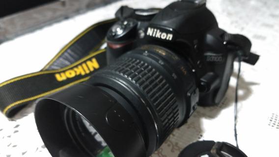 Câmera Fotográfica Nikon D3100, Com Lentes E Flash Originais