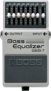 Boss Geb-7 Pedal Para Bajo Con Un Poderoso Eq De 7 Bandas