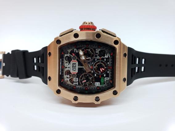 Reloj Richard Mille Rm 1103 Oro Rosa Caucho Negro Automatico